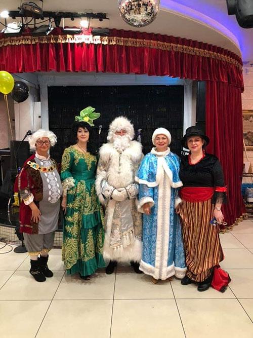 Prestige Restaurant, Ded Moroz, Snegurochka, Queens, New York, Дед Мороз, Снегурочка, Квинс, Нью-Йорк